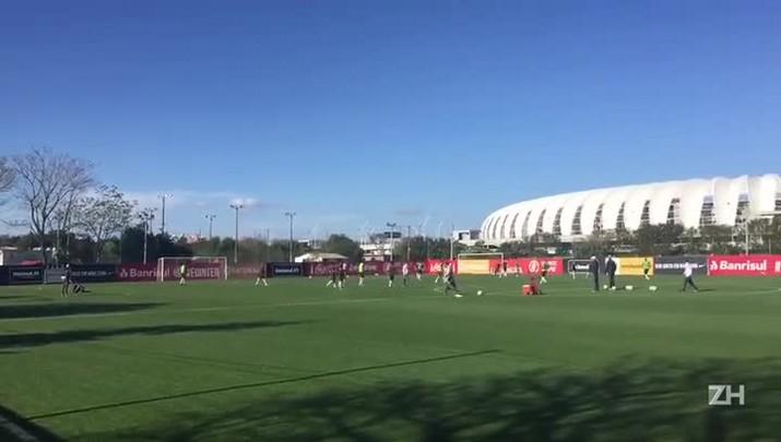 Inter treina para duelo com o Figueirense