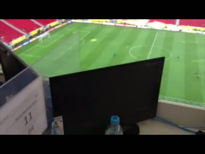 Confira a cabine da Gaúcha no Estádio Mané Garrincha. 14/06/2013