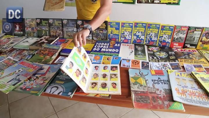 Fanático por Copa:Morador do Oeste coleciona milhares de coisas sobre os Mundiais