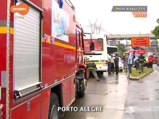 TVCOM 20 Horas - Mais de cinquenta pessoas ficam feridas em dois acidentes nesta segunda-feira na capital - 20/04/2015