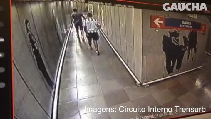 Vídeo mostra criminosos que fizeram arrastão no Trensurb