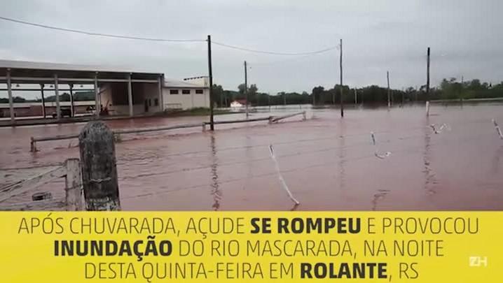 Enchente deixa ao menos 300 famílias fora de casa em Rolante