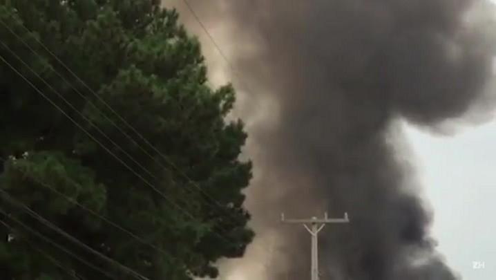 Incêndio atinge empresa em Nova Santa Rita