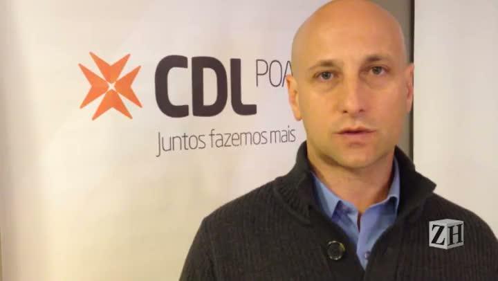 Presidente da CDL Porto Alegre fala de pesquisa sobre impostos
