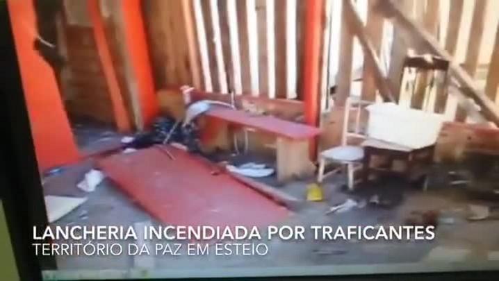 Dona de lancheria tem estabelecimento incendiado por se negar a vender drogas