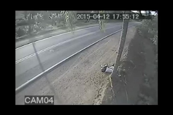 Vídeo mostra colisão entre dois carros no último domingo na BR-280, em Corupá.