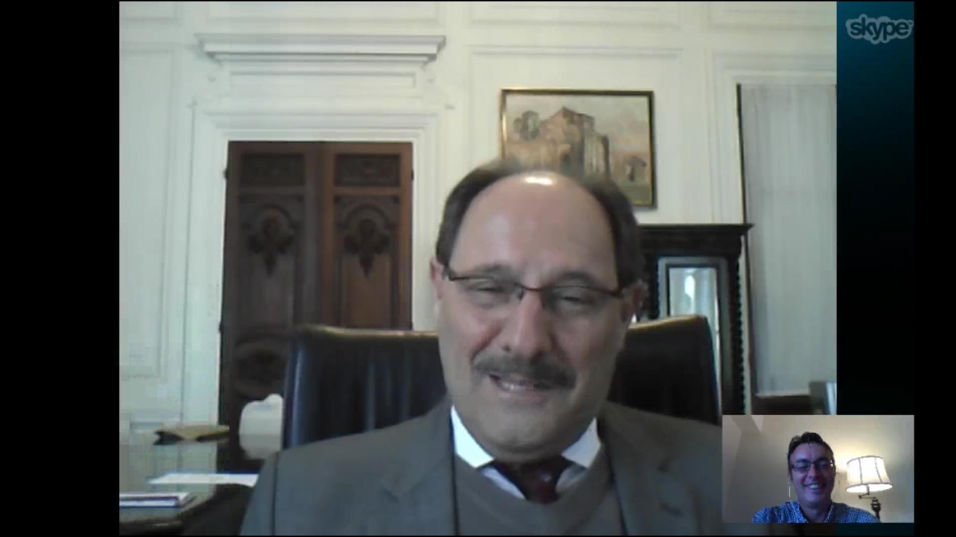 David Coimbra entrevista Sartori por Skype