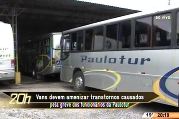 TVCOM 20 Horas - Vans devem amenizar transtornos causados pela greve dos funcionários da Paulotour - 14.07.15