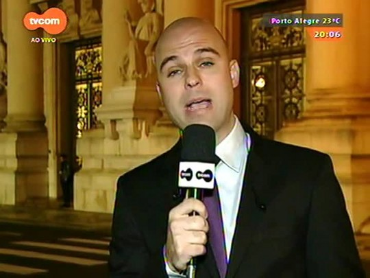 TVCOM 20 Horas - Sartori faz reunião para tentar por dez projetos de lei em votação nesta terça-feira na Assembleia - 14/09/2015