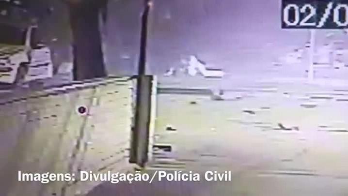 Imagens mostram colisão e uma das vítimas do atropelamento no Parcão