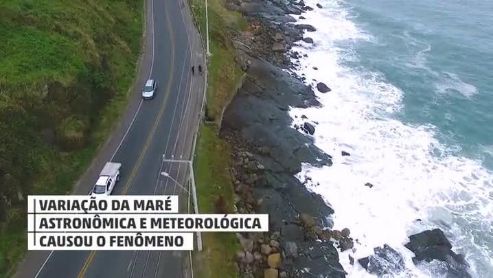 Maré alta e ressaca atingem praias de Florianópolis