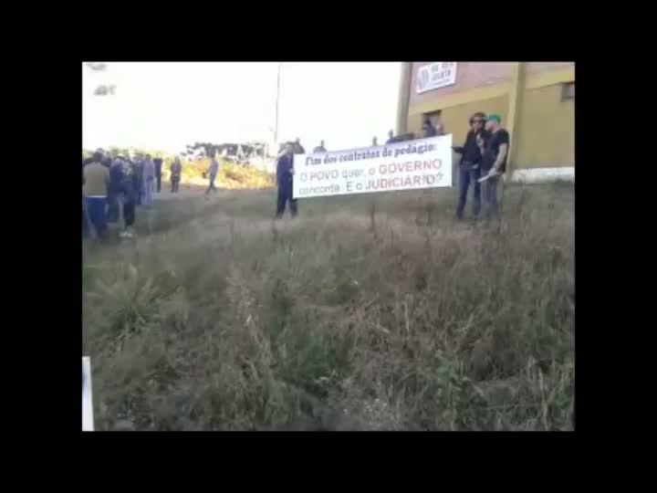 Mobilização pede fim imediato do Polo de Pedágio de Caxias. 16/04/2013