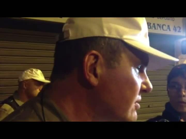 Major da BM comenta manifestação contra o valor das passagens em Porto Alegre - 13/06/2013