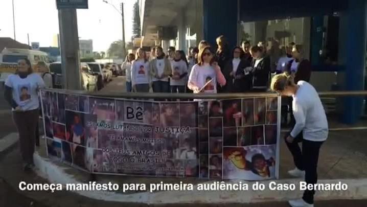 Moradores de Três Passos se mobilizam para a 1ª audiência do Caso Bernardo