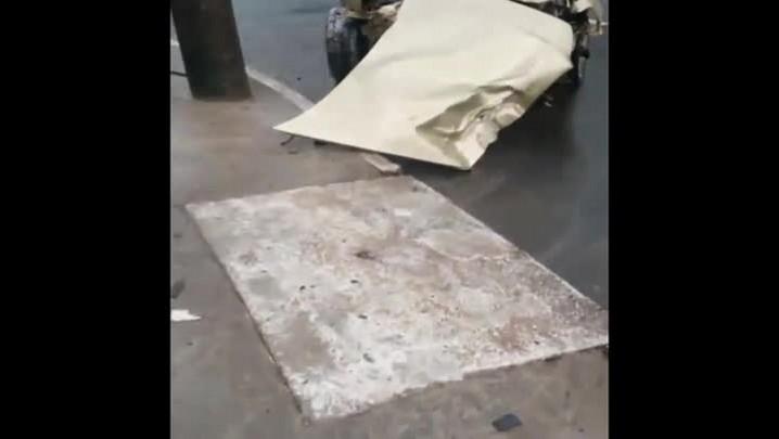Confira vídeo de acidente na rua XV de Novembro