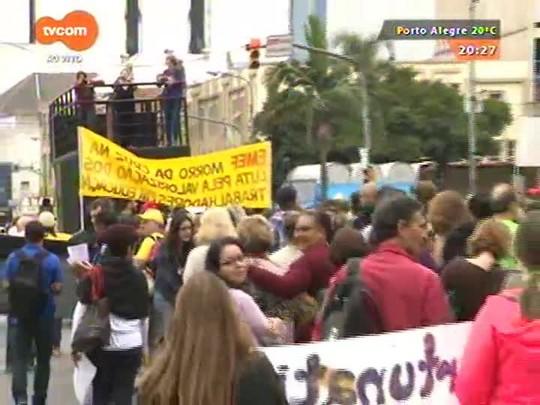 TVCOM 20 Horas - Servidores da Prefeitura da capital protestam por atendimento às reivindicações salariais - 28/04/2015