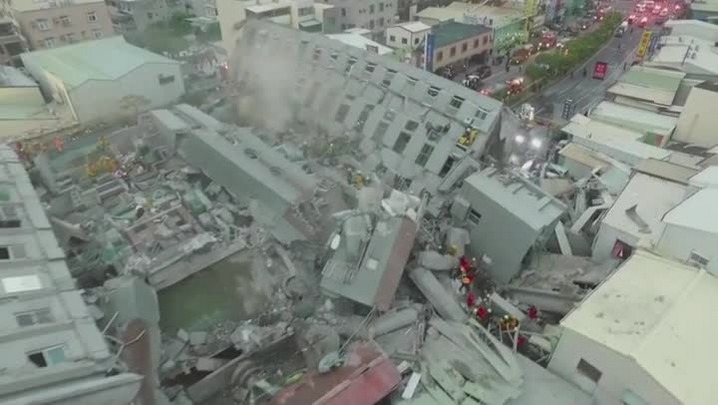 Terremoto deixa mortos e desaparecidos em Taiwan