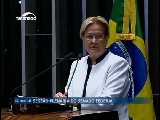 Ana Amélia Lemos (PP-RS) explica razões para apoiar impeachment de Dilma Rousseff