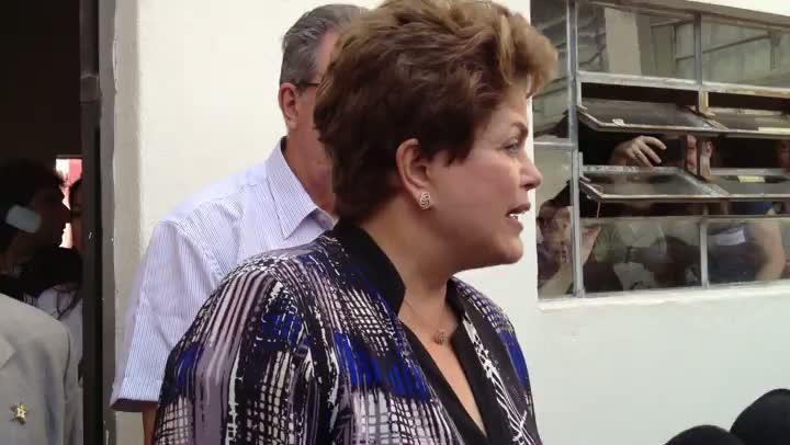 Dilma comenta a democracia no Brasil