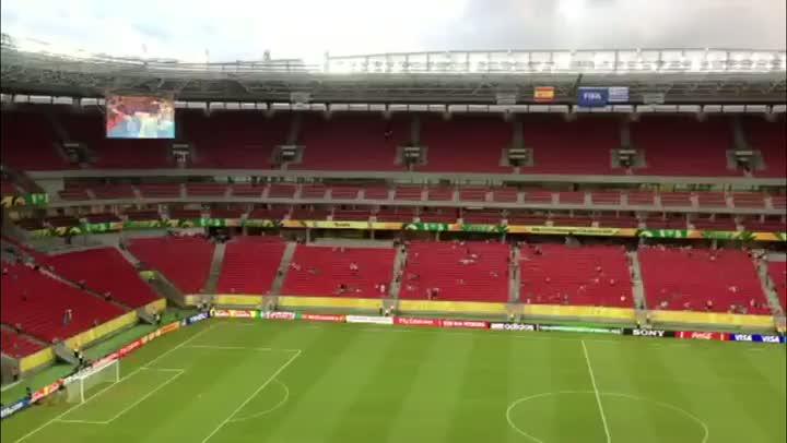 Rádio Gaúcha já está instalada na Arena Pernambuco - 16/06/2013