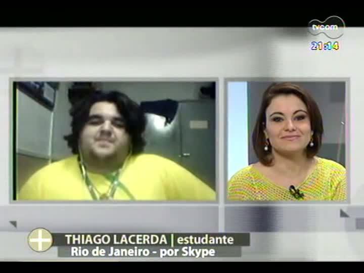 TVCOM Tudo Mais - Peregrino gaúcho que participa da JMJ conversa sobre a experiência de ver o Papa Francisco no Rio