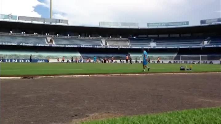 Com indefinições no time, Grêmio treina no Olímpico - 29/01/2014