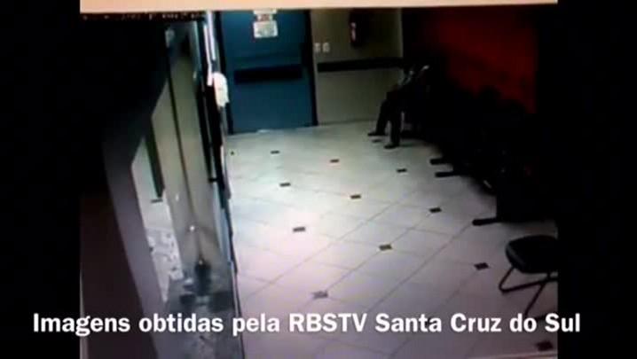 Imagens mostram mulher apanhando de ex-companheiro em hospital de Venâncio Aires