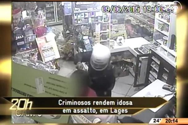 TVCOM 20 Horas - Criminosos rendem idosa em assalto, em Lages - 10.06.15