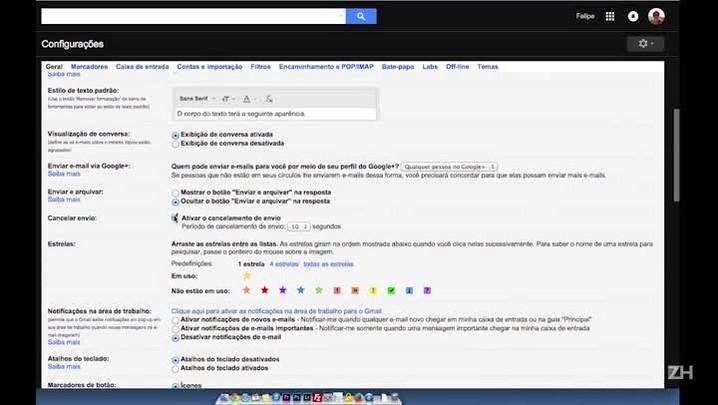 Como cancelar o envio de email no Gmail
