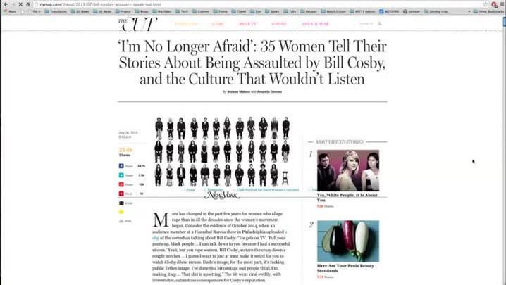 Mulheres falam sobre caso Cosby