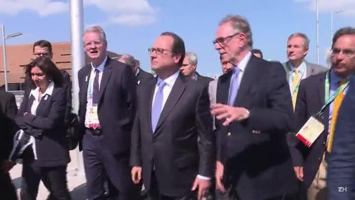 Hollande visita Parque Olímpico
