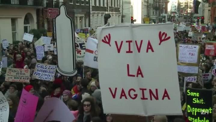 Marcha das mulheres reúne multidões