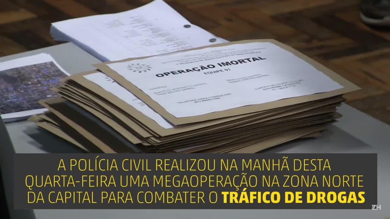 Polícia Civil realiza megaoperação contra o tráfico de drogas
