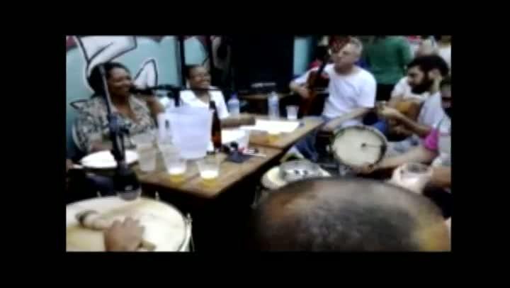 Roda de samba no Centro de Florianópolis