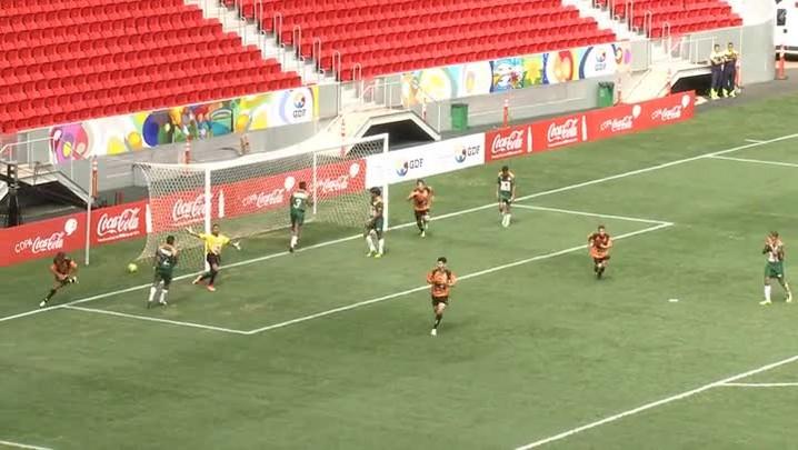 O gol da vitória do Novo Horizonte