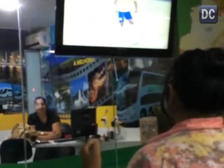 Veja o que rolou na rodoviária de Florianópolis durante o jogo do Brasil