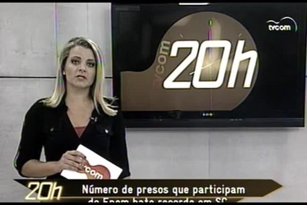 TVCOM 20h - Número de presos que participam do Enem bate recorde em SC - 11.12.14