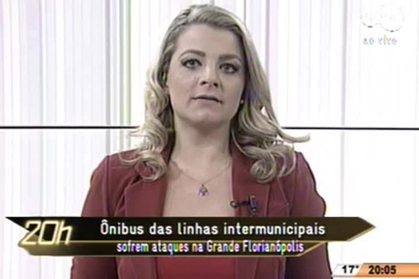 TVCOM 20 Horas - Ônibus das linhas intermunicipais sofrem ataques na Grande Florianópolis - 21.07.15