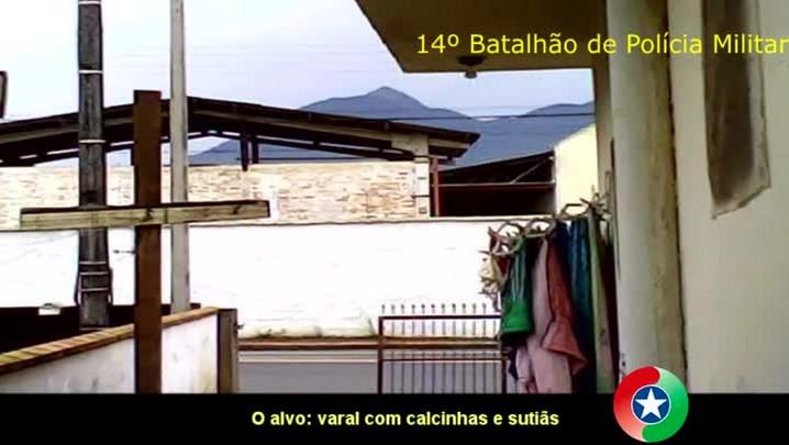 Assista o vídeo que mostra o ladrão de calcinhas de Jaraguá do Sul
