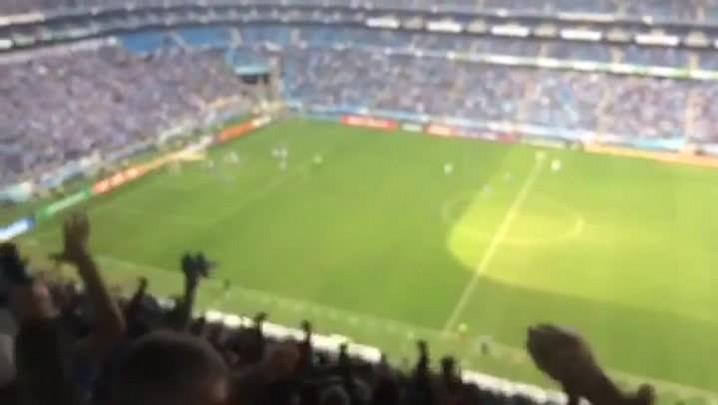 Assista à narração do gol que deu a vitória ao Grêmio contra o Figueirense