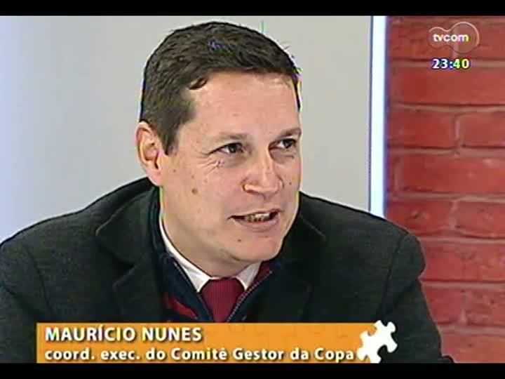 Mãos e Mentes - Coordenador executivo do Comitê Gestor da Copa no Estado, Maurício Nunes - Bloco 3 - 28/08/2013