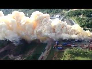 Equipe do Graer divulga imagens aéreas do incêndio em São Francisco do Sul