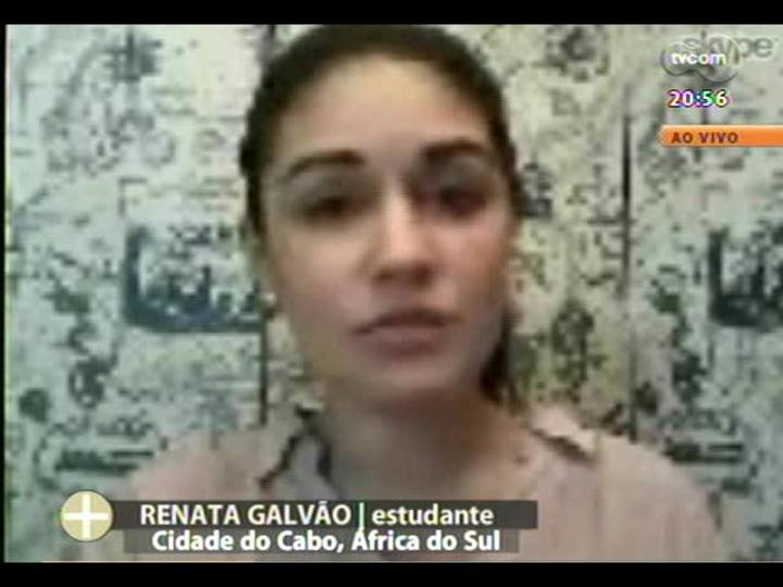 TVCOM Tudo Mais - Gaúcha fala como os africanos estão reagindo após a notícia da morte de Mandela