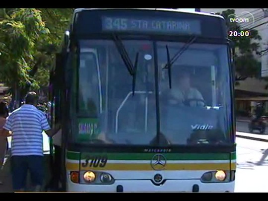TVCOM 20 Horas - Prefeito Fortunati sanciona reajuste de tarifa de ônibus - Bloco 1 - 04/04/2014