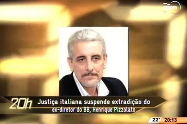 TVCOM 20 Horas - Justiça italiana suspende extradição do ex-diretor do BB, Henrique Pizzolato - 06.05.15