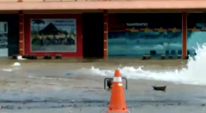 Rompimento de rede de água em Joinville