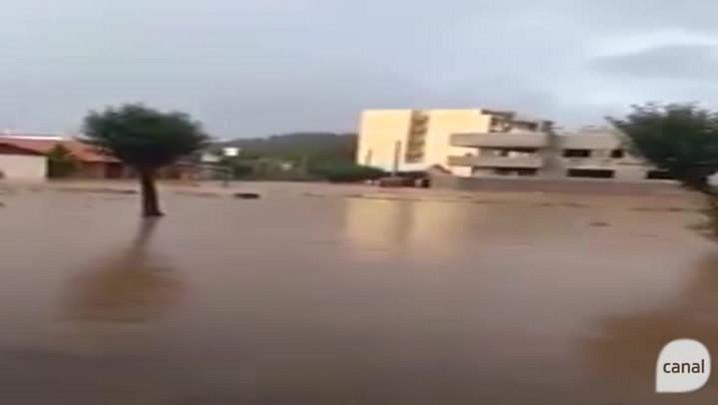 Chuvarada: leitor registra enchente em São Marcos