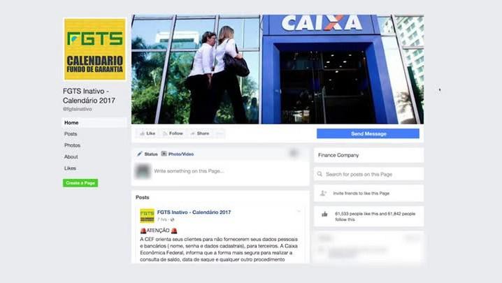 Calendário para saques de contas inativas do FGTS divulgado nas redes sociais é falso, alerta Caixa