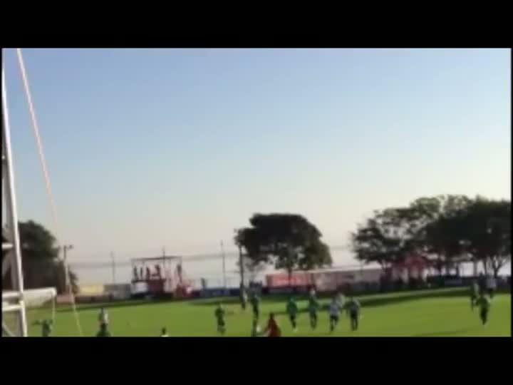 Seleção treina no Parque Gigante e torcida acompanhe de longe - 07/06/2013