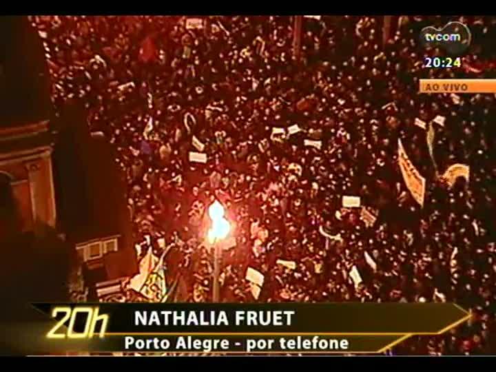 TVCOM 20 Horas - Imagens, acompanhamento dos fatos e análise dos protestos pelo país - Bloco 3 - 17/06/2013
